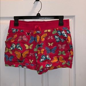 Girls Butterfly Pink shorts New XL 14/16 Cute!